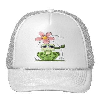Rana con la flor gorro