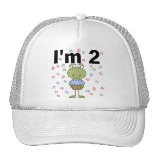 Rana con las 2das camisetas del cumpleaños de la m gorros
