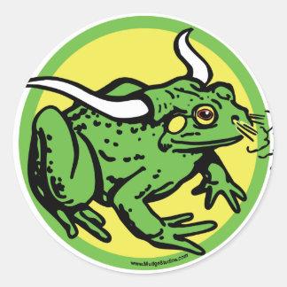 Rana de Bull por los estudios de Mudge Pegatina Redonda