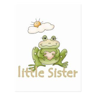 Rana de la pequeña hermana postales