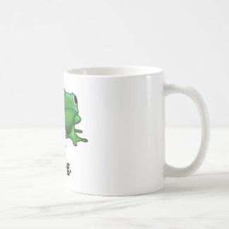 Rana de la rana taza de café