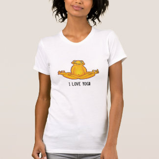 Rana de la yoga - camiseta de la yoga del amor de