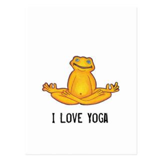 Rana de la yoga - postal de la yoga del amor de I