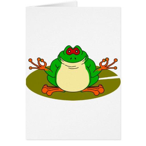 Rana de la yoga tarjeta de felicitación