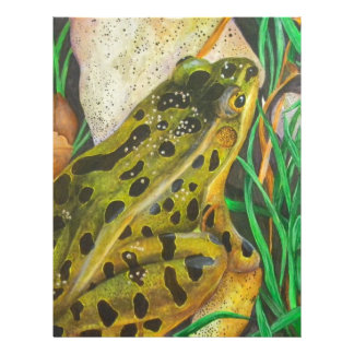 Rana de leopardo membrete