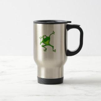Rana de los aeróbicos tazas de café