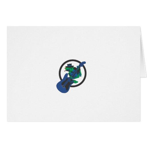 Rana de los azules tarjeta de felicitación