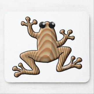 Rana de madera del grano tapetes de raton