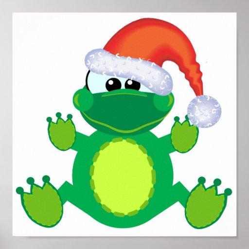 rana de Navidad de santa de los goofkins Impresiones