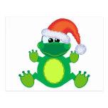 rana de Navidad de santa de los goofkins Postales