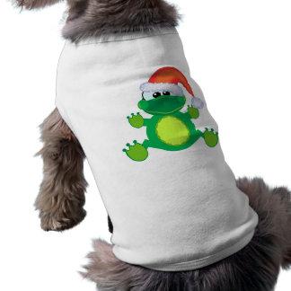 rana de Navidad de santa de los goofkins Playera Sin Mangas Para Perro