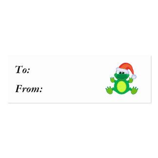 rana de Navidad de santa de los goofkins Tarjetas De Visita Mini