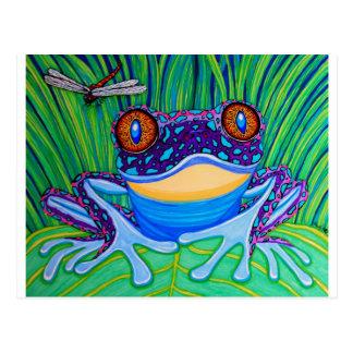 Rana de ojos brillantes tarjetas postales