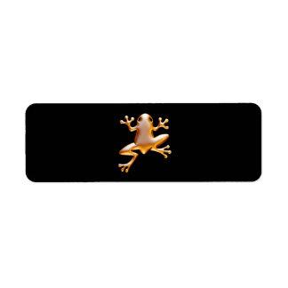 Rana de oro etiqueta de remite