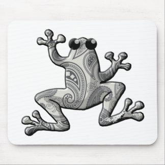 Rana de Paisley del blanco gris Mousepad