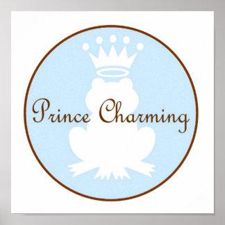 Rana de príncipe el encantar con la lona de la cor poster