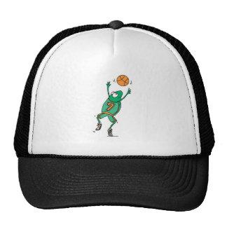 rana de salto del baloncesto gorras de camionero