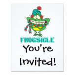 rana de temblor congelada divertida del frogsicle invitacion personalizada