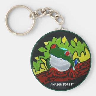 Rana del Amazonas del brasilen@o Llavero Redondo Tipo Pin