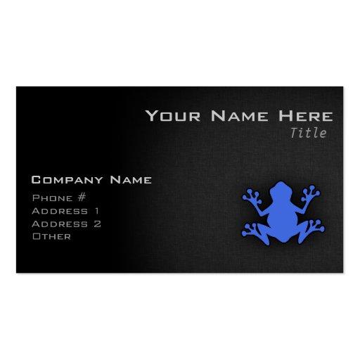 Rana del azul real tarjetas de visita