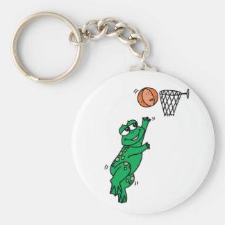 Rana del baloncesto llaveros personalizados