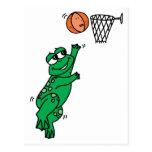 Rana del baloncesto postales