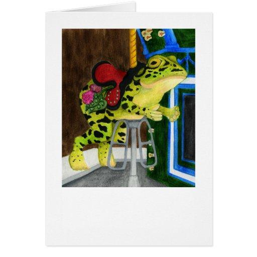 Rana del carrusel - tarjeta del lirio