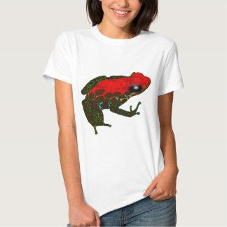 Rana del dardo de la selva tropical remera