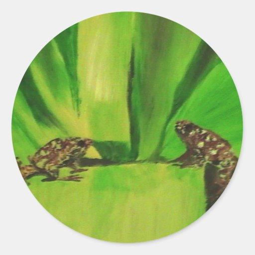 Rana del dardo del veneno # 2 pegatinas redondas