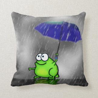 Rana del día lluvioso cojines