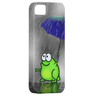 Rana del día lluvioso iPhone 5 Case-Mate funda