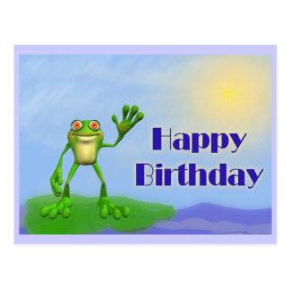 Rana del feliz cumpleaños tarjeta postal