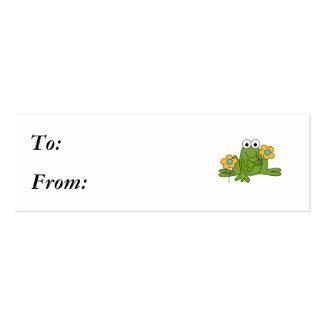 rana del froggy de la flor tarjetas de visita mini