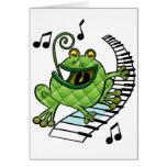 Rana del jazz tarjeta de felicitación