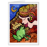 Rana del La/la tarjeta de Loteria de la rana