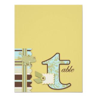 """Rana del lunar y tarjeta retra de la tabla de la invitación 4.25"""" x 5.5"""""""