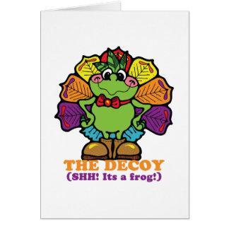 rana del pavo de la trampa tarjeta de felicitación
