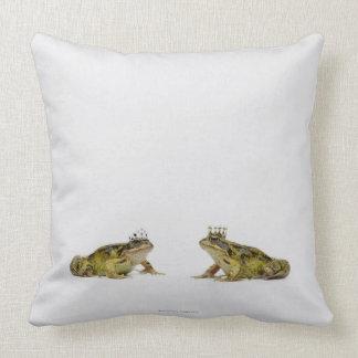 Rana del rey y de la reina que mira uno a almohadas