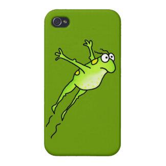 Rana del salto iPhone 4 carcasas