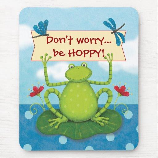 Rana del salto - no se preocupe… Sea Mousepad DE L