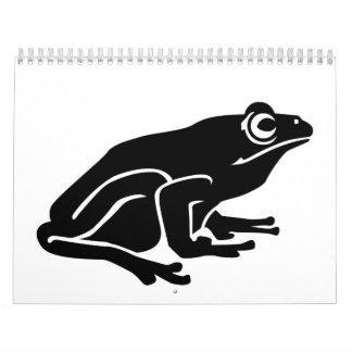 Rana del sapo calendarios
