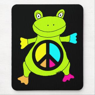 Rana del signo de la paz tapetes de raton