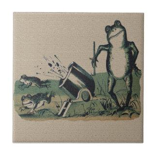 Rana del vintage azulejo cuadrado pequeño