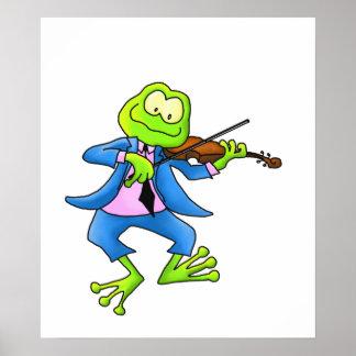 Rana del violín póster