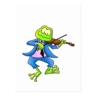 Rana del violín postales
