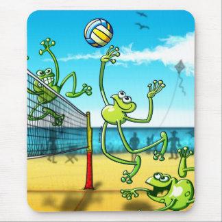 Rana del voleibol alfombrilla de raton