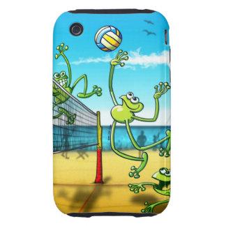 Rana del voleibol carcasa resistente para iPhone