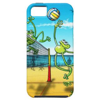 Rana del voleibol iPhone 5 protectores