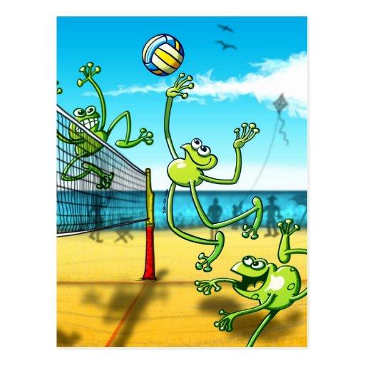 Rana del voleibol tarjeta postal