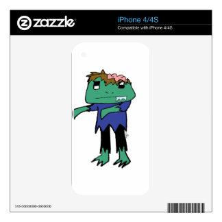 Rana del zombi iPhone 4S calcomanía